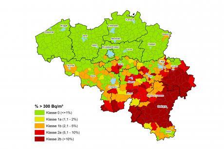 Classe radon par communes